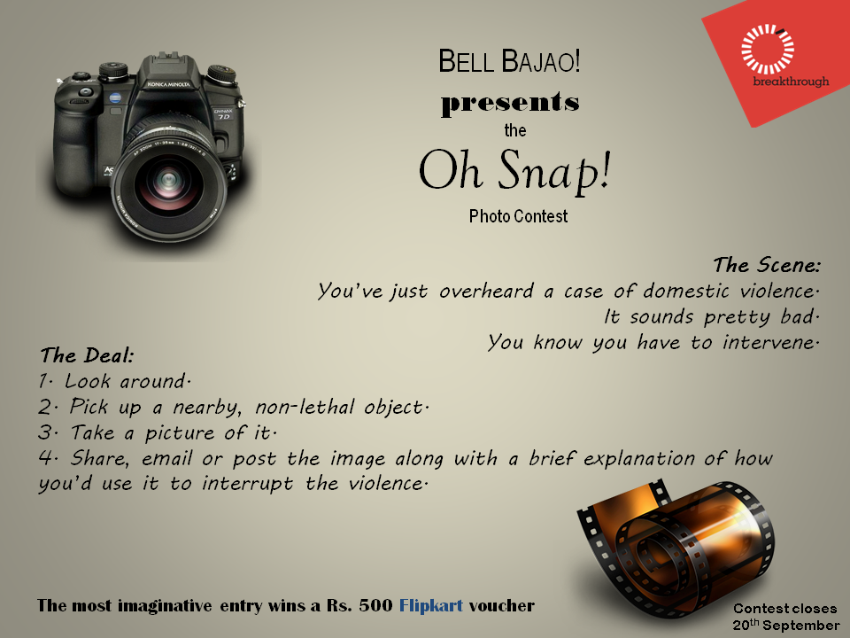 Oh Snap Photo Contest Bell Bajao
